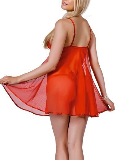 Miorre Tül Babydoll Takım Kırmızı